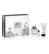 GUCCI FLORA BY GUCCI GLAMOROUS MAGNOLIA EDT 50 ML + EDT 5 ML + B/L 50 ML SET