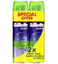 GILLETTE CLASSSIC GEL DE AFEITAR PIEL SENSIBLE 2 X 200 ML