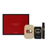 GUCCI GUILTY EDT 75 ML + B/LOC 100 ML + MINI 7.4 ML SET REGALO