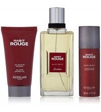 GUERLAIN HABIT ROUGE EDT 100ML+GEL DE DUCHA 75ML+DEO SPRAY 50ML SET REGALO