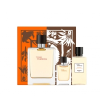 HERMES TERRE D'HERMES EDT 100 ML + MINI 5 ML + SHOWER GEL 40 ML SET REGALO