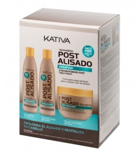 KATIVA KIT POST ALISADO CHAMPU 250ML+ACONDICIONADOR 250ML+ MASCARILLA 250ML