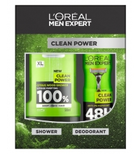 L'OREAL MEN EXPERT CLEAN POWER DESODORANTE 150ML + GEL 300ML