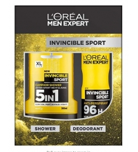 L'OREAL MEN EXPERT INVINCIBLE SPORT DESODORANTE 150ML + GEL 300 ML