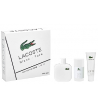 EAU DE LACOSTE L.12.12 BLANC EDT 100 ML+ DEO STICK 75 ML + GEL 50 ML SET REGALO