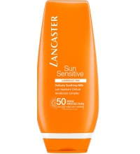 LANCASTER SUN SENSITIVE LUMINOUS TAN DELICATE SOOTHING MILK SPF 50 125 ML