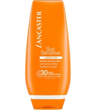 LANCASTER SUN SENSITIVE LUMINOUS TAN DELICATE SOOTHING MILK SPF 30 125 ML