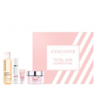 LANCASTER TOTAL AGE CORRECTION COMPLETE NIGHT CREAM 50 ML + CLEANS. 100 ML+ SERUM 10 ML + CONTORNO OJOS 3 ML SET REGALO