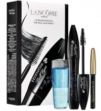 LANCOME HYPNOSE DOLL EYES MASCARA SO BLACK + 2 PIEZAS SET REGALO