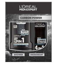 L'OREAL MEN EXPERT GEL 300 ML+ DESODORANTE 150 ML CARBON POWER