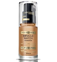 MAX FACTOR MIR MATCH BLUR & NOUR SOFT BASE DE MAQUILLAJE  BRONZE 80 30ML
