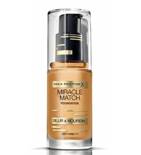 MAX FACTOR MIRACLE MATCH BLUR & NORISH BASE DE MAQUILLAJE 77 HONEY 30ML