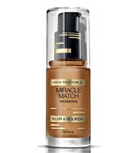 MAX FACTOR MIR MATCH BLUR & NOUR SOFT BASE DE MAQUILLAJE TOFFEE 90 30ML