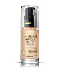 MAX FACTOR MIRACLE MATCH BLUR & NORISH BASE DE MAQUILLAJE 40 LIGHT IVORY 30 ML