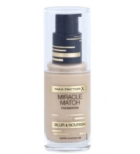 MAX FACTOR MIRACLE MATCH BLUR & NORISH BASE DE MAQUILLAJE 45 WARM ALMOND 30 ML