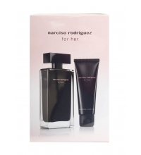 NARCISO RODRIGUEZ FOR HER EDT 100 ML + B/L 75 ML SET REGALO