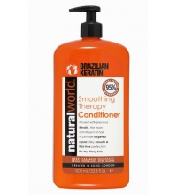 NATURAL WORLD BRAZILIAN KERATIN OIL SMOOTHING THERAPY CONDITIONER 1000 ML