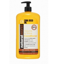 NATURAL WORLD CHIA SEED OIL VOLUME & SHINE  CONDITIONER 1000 ML
