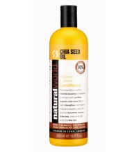 NATURAL WORLD CHIA SEED OIL VOLUME & SHINE  CONDITIONER 500 ML
