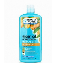 NATURAL WORLD MOROCCAN ARGAN OIL MOISTURE RICH SHAMPOO 500 ML