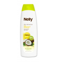 NELLY GEL DE DUCHA CON ACEITE DE COCO 600ML