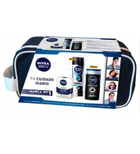 NIVEA MEN SENSITIVE DEO 200ML+GEL DUCHA 250ML + AFTER SHAVE 100ML + NECESER SET REGALO