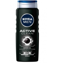 NIVEA MEN GEL DE DUCHA ACTIVE CLEAN 500ML