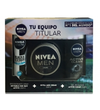 NIVEA MEN PACK CREME 150ML +GEL ACTIVE CLEAN 250 ML + DEO 200 ML