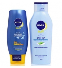 NIVEA SUN LECHE SOLAR PROTEGE E HIDRATA SPF30 200ML+ AFTER SUN 400ML SET REGALO