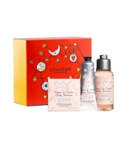 L'OCCITANE EN PROVENCE FLOR CEREZO SHOWER GEL 75 ML + CREMA MANOS 30 ML + JABÓN PERFUMADO 50 GR SET REGALO