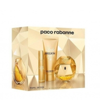 PACO RABANNE LADY MILLION EDP 80 ML + B/LOC 75 ML + EDP 10 ML TRAVEL SET