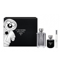 PRADA L´HOMME  EDT 100 ML + GEL BAÑO 100ML +EDP MINIATURA 10ML