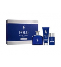 RALPH LAUREN POLO BLUE EDP 125 ML + GEL 100ML + DEO STICK 75GR SET REGALO