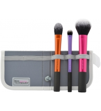 REAL TECHNIQUES TRAVEL ESSENCIAL KIT BASICO DE 3 BROCHAS