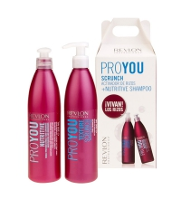 REVLON PROYOU SCRUNCH CHAMPU 350 ML + MASCARILLA ACTIVADORA RIZOS 350 ML SET