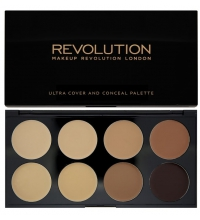 MAKEUP REVOLUTION ULTRA COVER AND CANCEL PALETTE MEDIUM-DARK