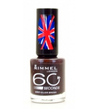 RIMMEL LONDON 60 SECOND MAJOR BROWN 550 8ML