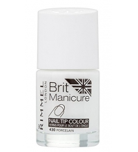 RIMMEL LONDON BRIT MANICURE NAIL TIP COLOUR PORCELAIN 430 12ML