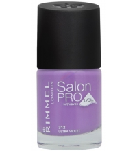 RIMMEL LONDON NAIL POLISH SALON PRO ULTRA VIOLET 312 12ML
