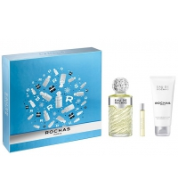 EAU DE ROCHAS EDT 100 ML + B/L 100 ML  + MINI 7.5 ML SET REGALO