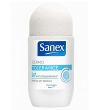 SANEX DESODORANTE TOLERANCE ROLL ON 50 ML