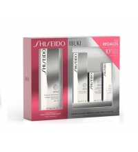 SHISEIDO IBUKI PROTECTIVE MOISTURIZER EMULSION 75 ML + LIMPIADOR 30 ML + EYE CREAM 5 ML + SOFT. 15 ML SET