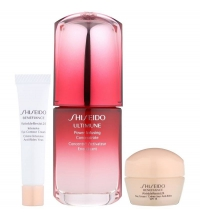 SHISEIDO ULTIMUNE POWER INFUSING CONCENTRATE 30 ML + WR DAY CREAM 10 ML + EYE CREAM 5 ML  SET REGALO