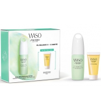 SHISEIDO WASO QUICK MATTE MOISTURIZER OIL-FREE 75ML+WASO QUICK CLEANSER 30ML SET REGALO