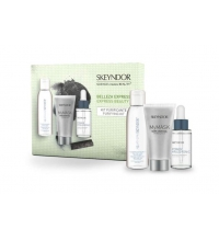 SKEYNDOR MY MASK DARK CHARCOAL 50 ML + POWER HYALURONIC BOOSTER 30 ML + AGUA MICELAR 100 ML SET REGALO
