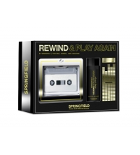 SPRINGFIELD REWIND AND PLAY AGAIN THE FEELING OF THE NIGHT EDT 100 ML + DEO SPRAY 100 ML SET REGALO