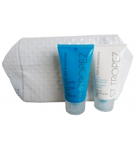 ST TROPEZ GIFSET PREP & MAINTAIN MOISTURISER 75 ML + BODY POLISH 75 ML + NECESER
