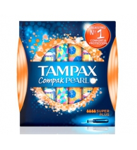 TAMPAX COMPAK PEARL  TAMPON SUPER PLUS  18 UNIDADES