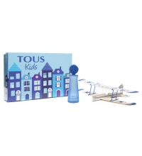 TOUS KIDS BOY EDT 100 ML + MINIATURA 4.5 ML +  AVION DE MADERA SET REGALO