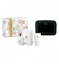 TRUSSARDI DONNA EDP 100 ML + B/LOCION 100 ML +NECESER SET REGALO